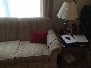 Couch writing cave